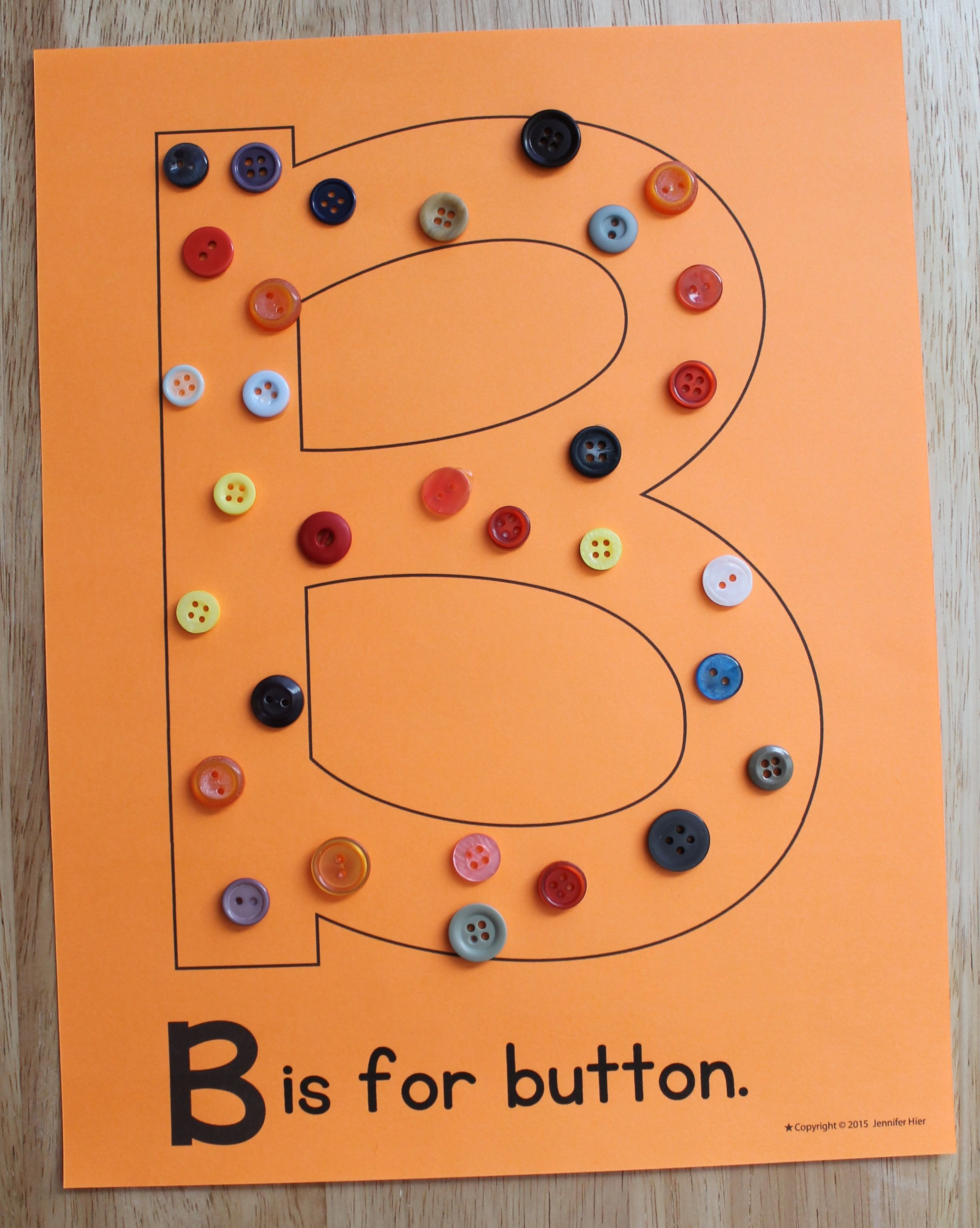 B Is For Button Editable Abc Pages For Your Letter Of The