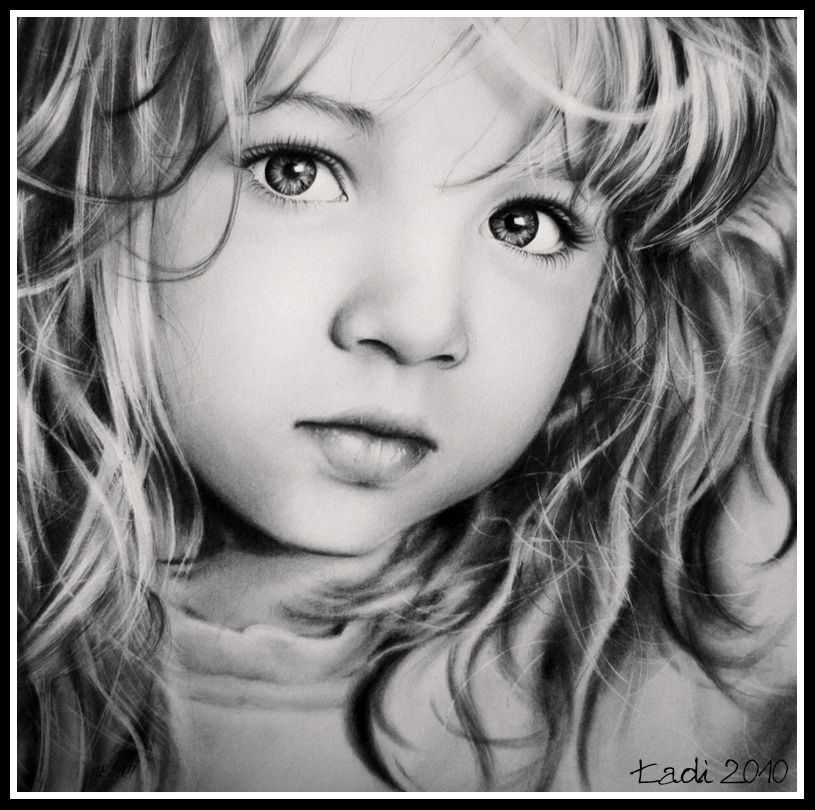 how to draw a realistic little girl