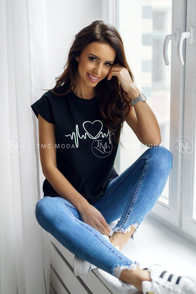 24626cc98927 Módne dámske tričko s potlačou vo veľkosti UNI