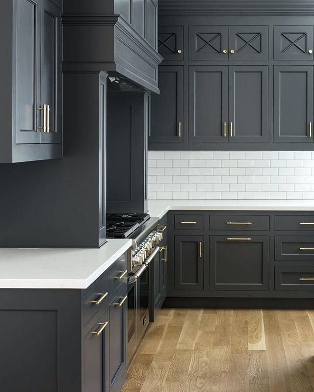 Charcoal Kitchen Cabinets Cabinet Color Is Cheating Heart By Stunning Dark And Rich Color Fox Kitchen Cabinet Design Kitchen Design Farmhouse Kitchen Cabinets