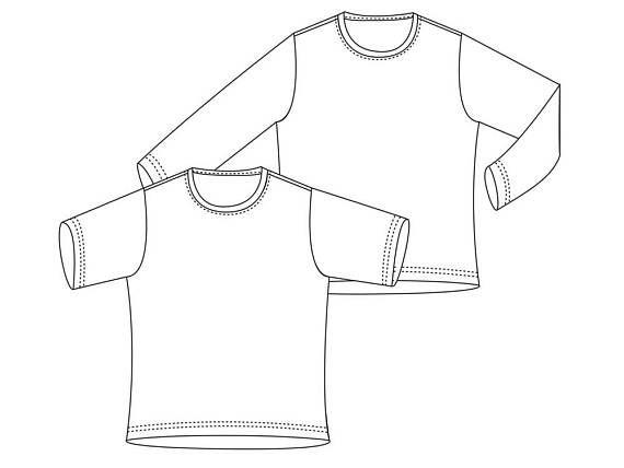 Shirt für Kinder nähen Gr.98-164 Langarm Halbarm Pulli Schlafanzug T ...