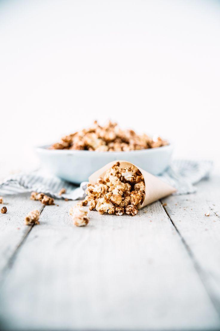 Peanut Butter & Cinnamon Caramel Popcorn - Swoon Food