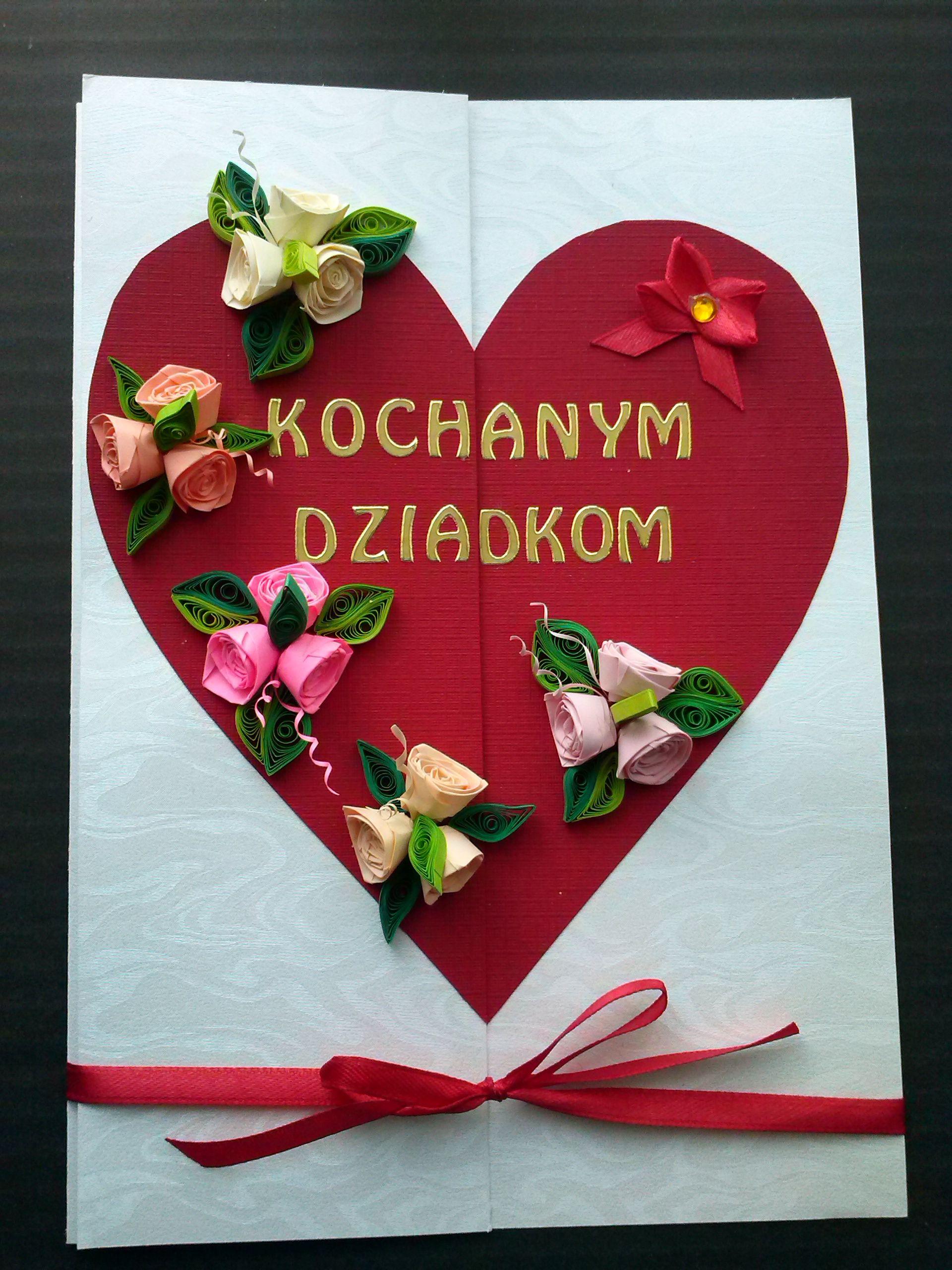 Kartka Na Dzien Babci I Dziadka Origami Diy Cards
