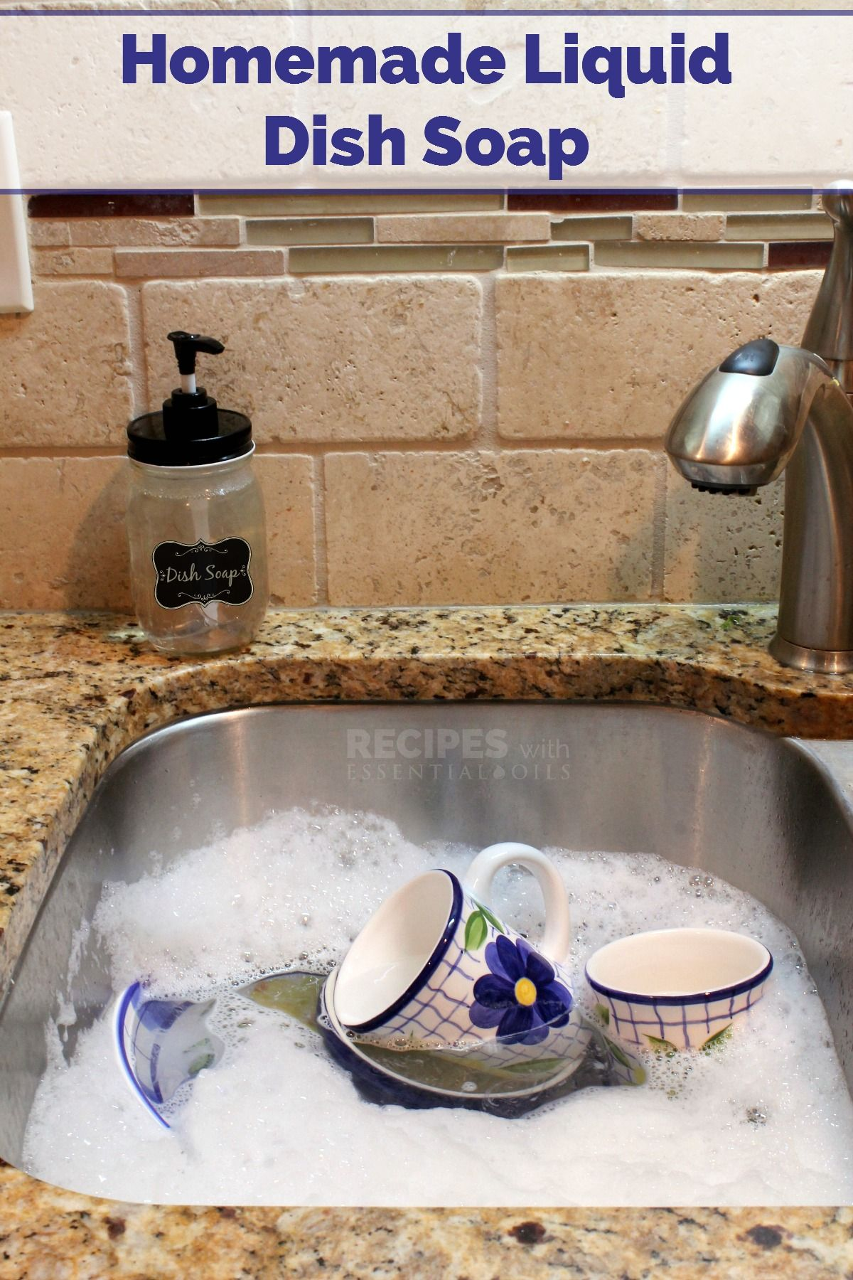 Liquid Dish Soap Recipe Homemade dish soap, Homemade