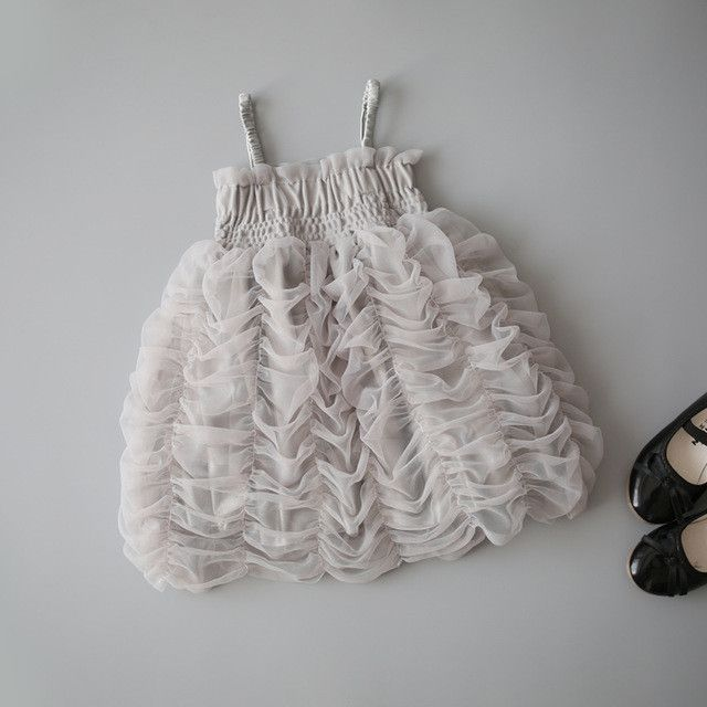 Fluffy Bubble Party Dress Toddler Chiffon Princess Tutu Dress