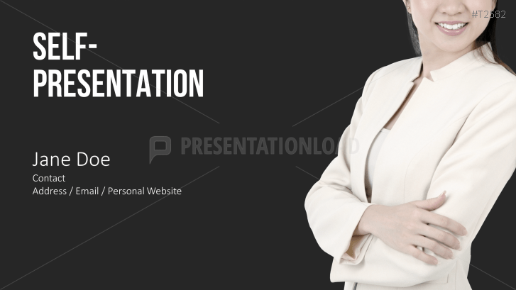 Self Presentation Powerpoint Template Business Woman