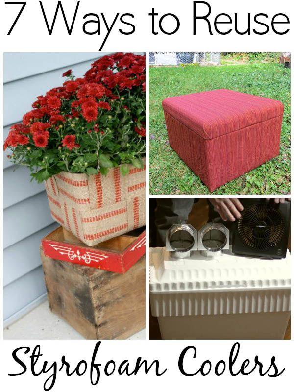 7 Ways To Reuse Styrofoam Coolers Styrofoam Crafts Styrofoam Recycling Styrofoam Art