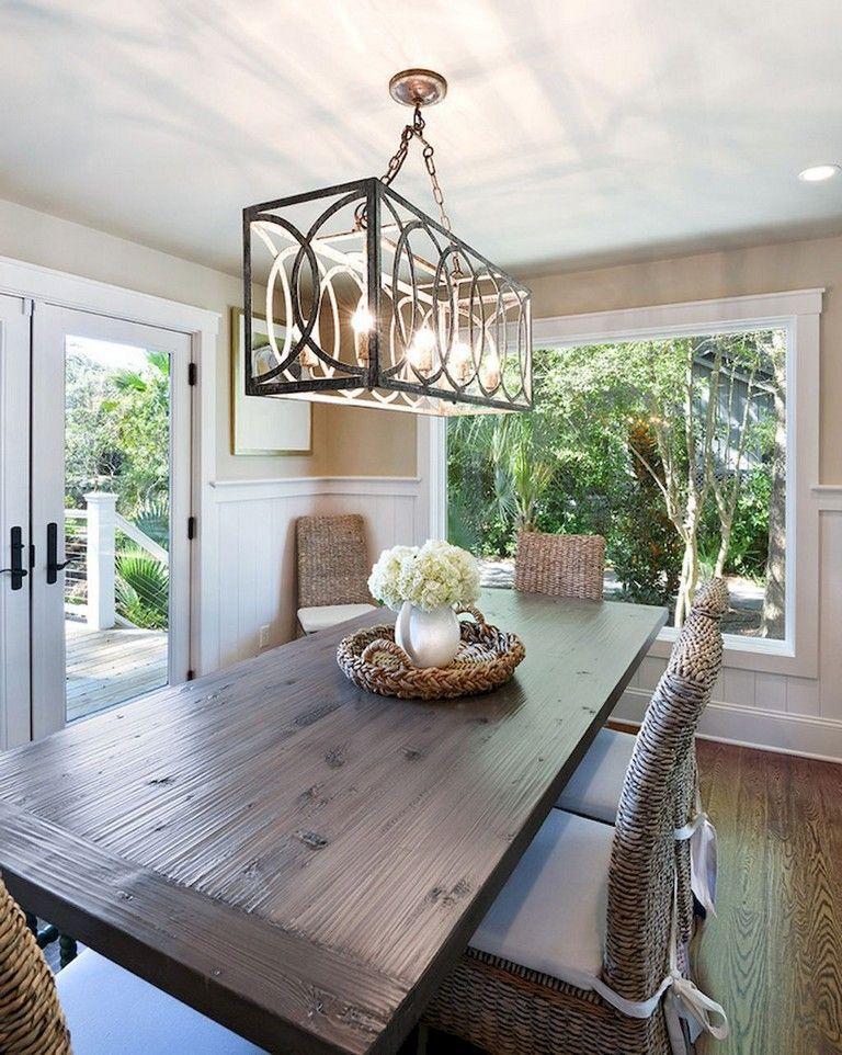 100 Lovely And Elegant Dining Room Chandelier Lighting Ideas In