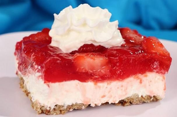 Strawberry Jello Cake Recipe Frozen Strawberries: Sweet And Salty Strawberry Pretzel Delight
