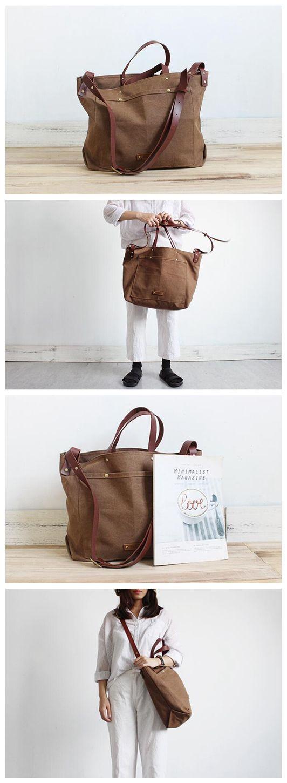 11806e23e64 Handmade Large Canvas Tote Handbag Crossbody Bag School Bag SB07 ...