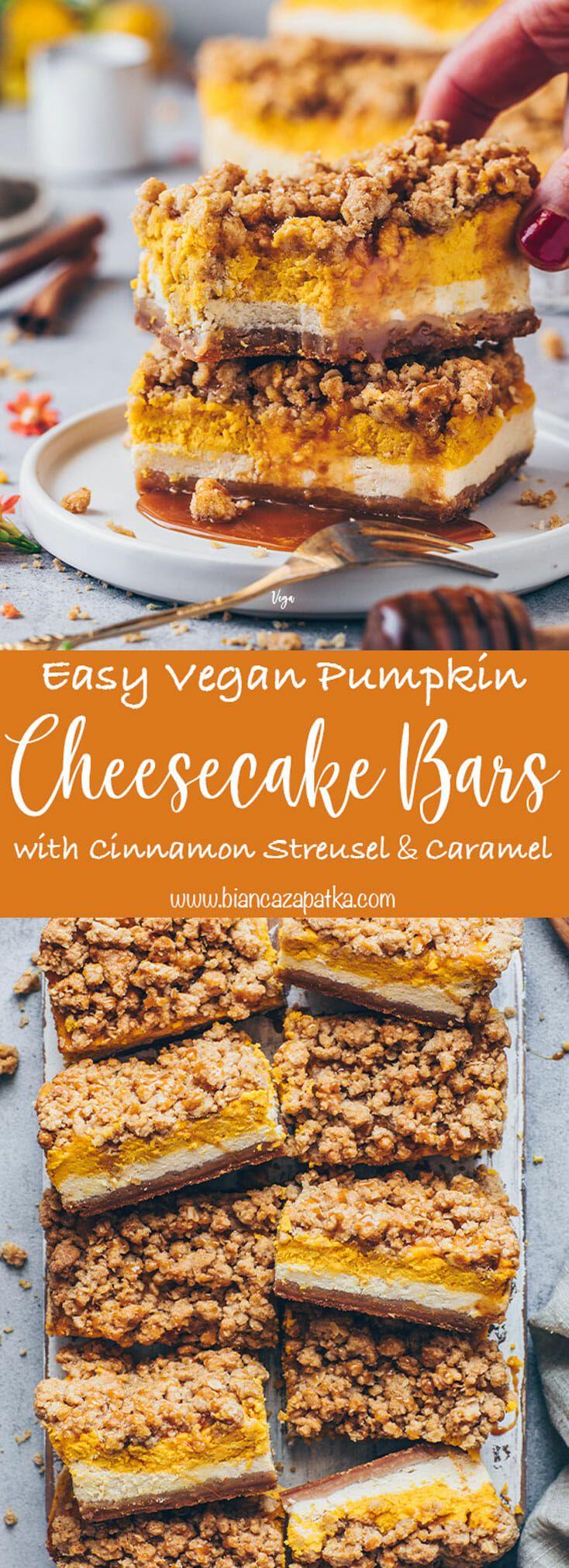 Pumpkin Cheesecake Bars with Cinnamon Streusel | Recipe ...