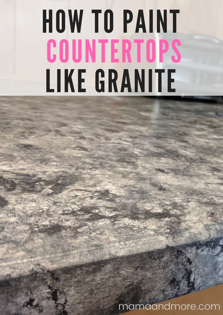 How To Paint Your Countertops Like Granite Painting