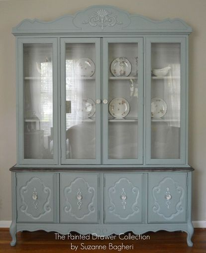 Vintage Bassett China Cabinet Gets a New LIfe   Life paint, China ...