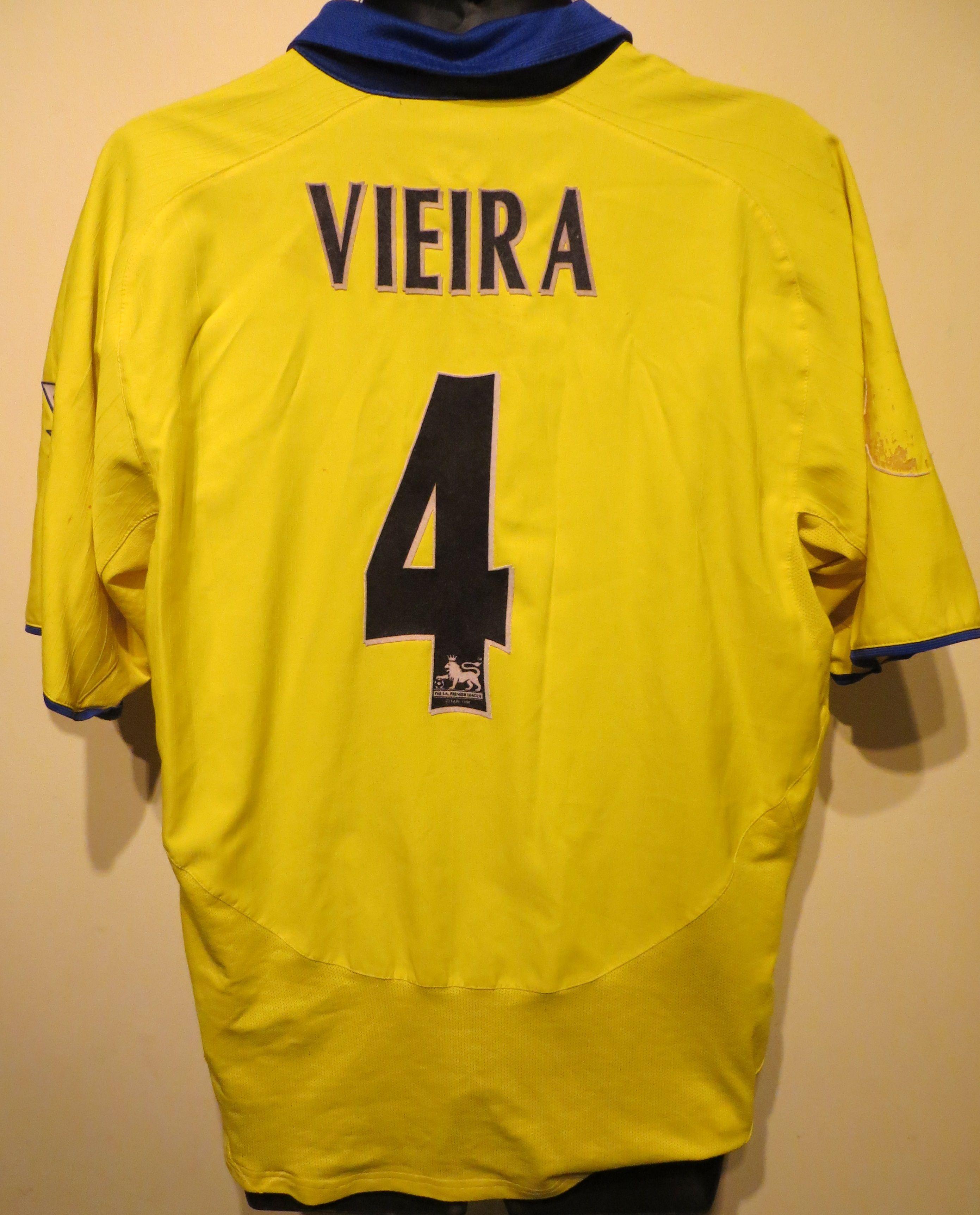 3ad8b692828 Patrick Vieira Arsenal away shirt by Nike