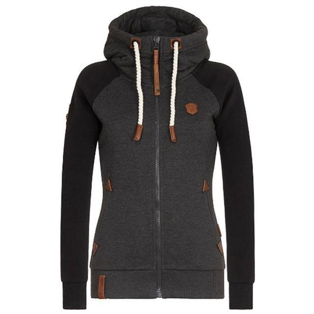 Patchwork Clothes Poleron Mujer  Hoodies – black hoodie / XXL