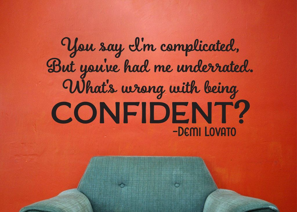 Confident Lyrics inspired by Demi Lovato Wall Decal Sticker