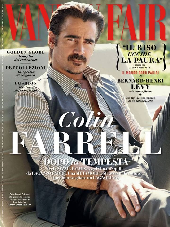 Colin Farrell in Dolce&Gabbana for Vanity Fair Italy, January