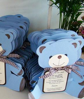Faire parts de naissance – tuto pour la fabrication carte de naissance ours
