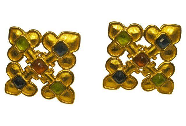Karl Lagerfeld Maltese Cross Earrings Cross Earrings Maltese Cross Karl Lagerfeld