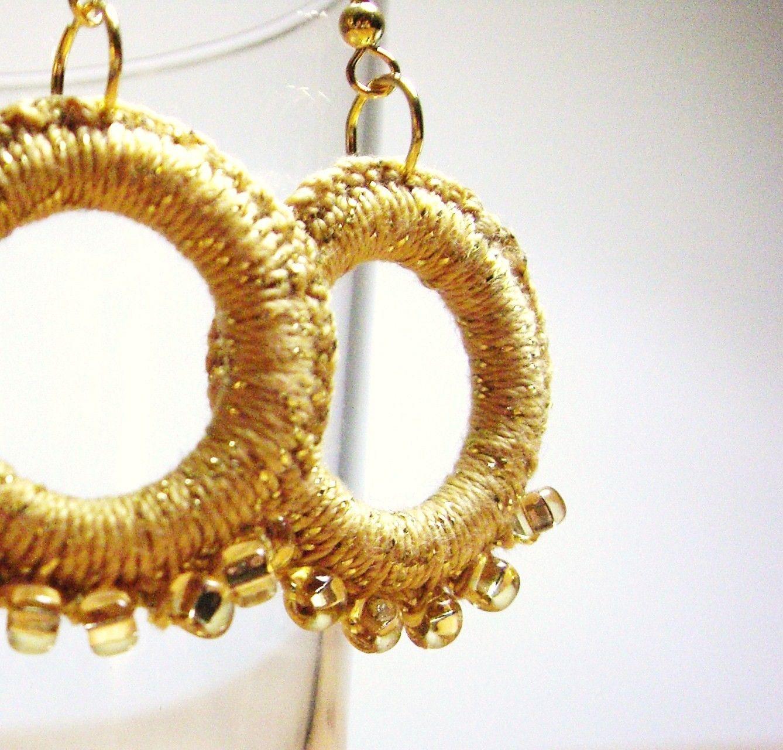 free crochet earri gs | Crochet Pattern Central - Free Earrings ...