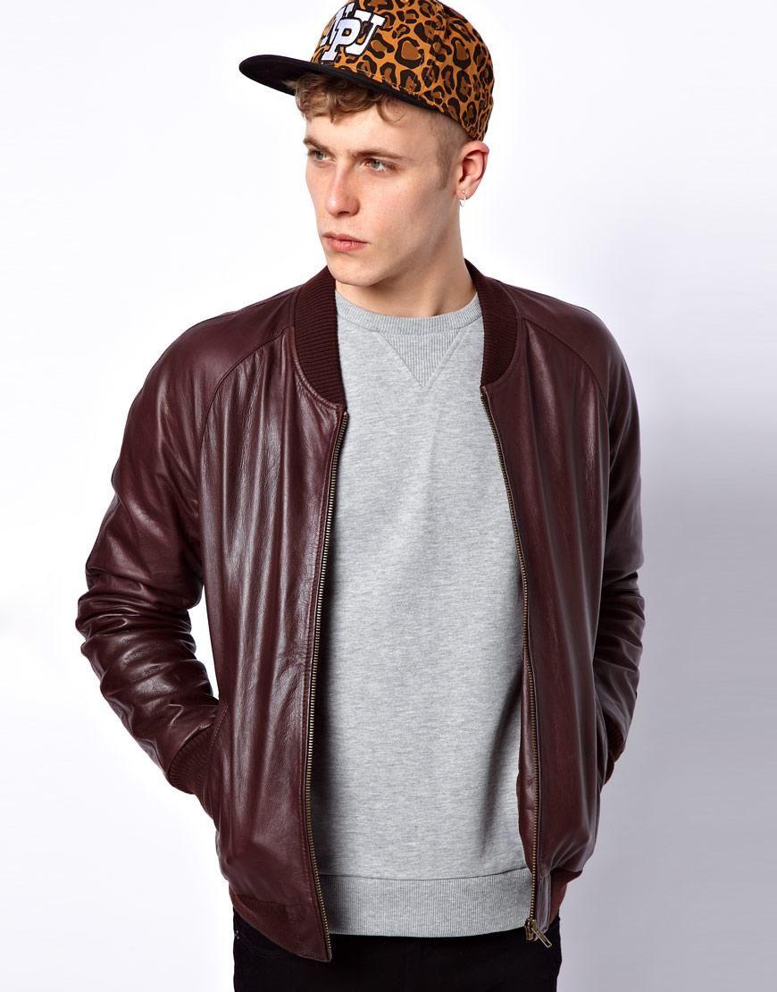 Asos Leather Bomber Jacket Leather Bomber Jacket Bomber Jacket Wrangler Denim Shirt [ 1110 x 870 Pixel ]