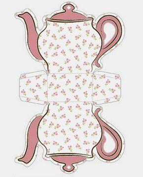 Tea Cup Template Free Printable | Shabby Chic Teapot Free Printable ...