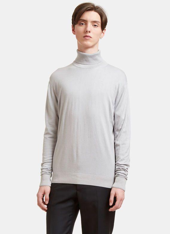 14063135d AIEZEN Men s Ribbed Roll Neck Sweater in Light Grey.  aiezen  cloth ...