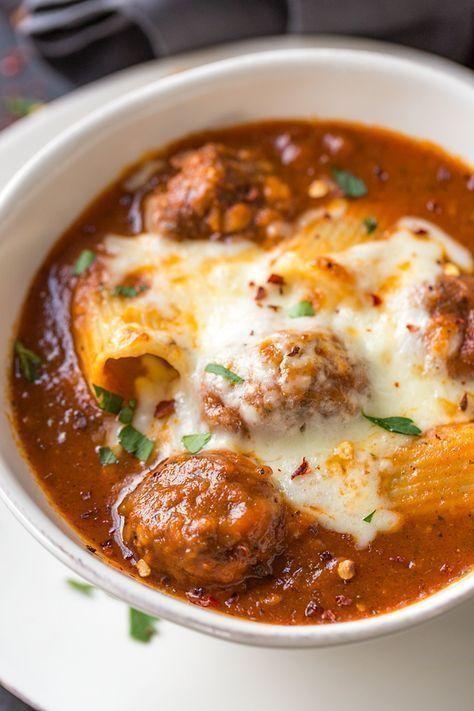 Rigatoni Meatball Soup
