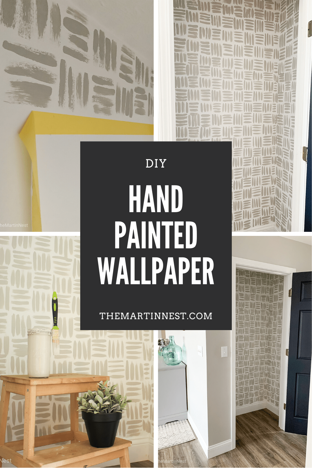 Diy Handpainted Accent Wall On The Cheap Themartinnest Com In 2020 Accent Wall Paint Accent Wall Diy Wallpaper #paint #accent #wall #living #room