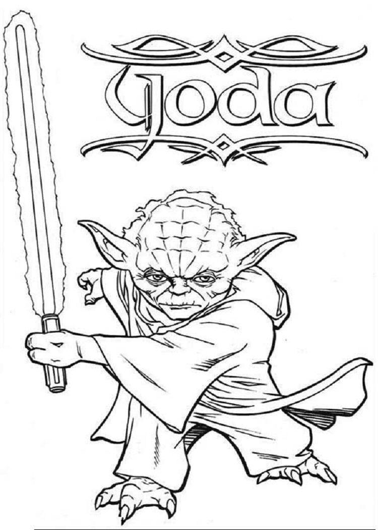 Star Wars Coloring Pages Yoda Ausmalbilder Ausmalen Zeichnen