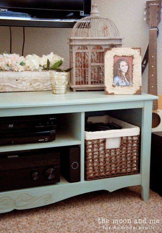 tv console diy, The Moon and Me on Remodelaholic