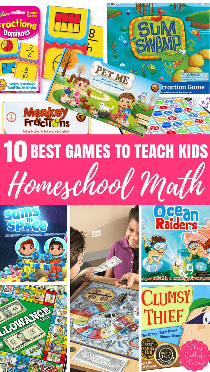 Homeschool Math Games: 10 Super Fun Games to Teach Kids Math