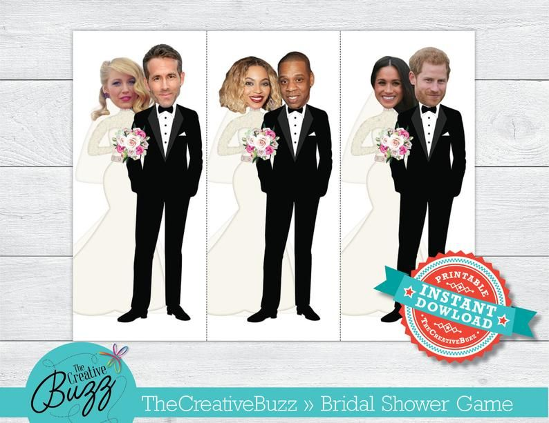 Celebrity Who Has the Groom Bride Couple Bridal Shower Game 40 | Etsy