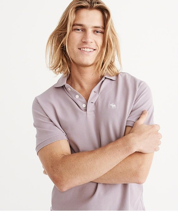 The redesigned polo from Abercrombie & Fitch made for you! It's the same polo you love. The only difference? Now it will #fit you #better than ever.