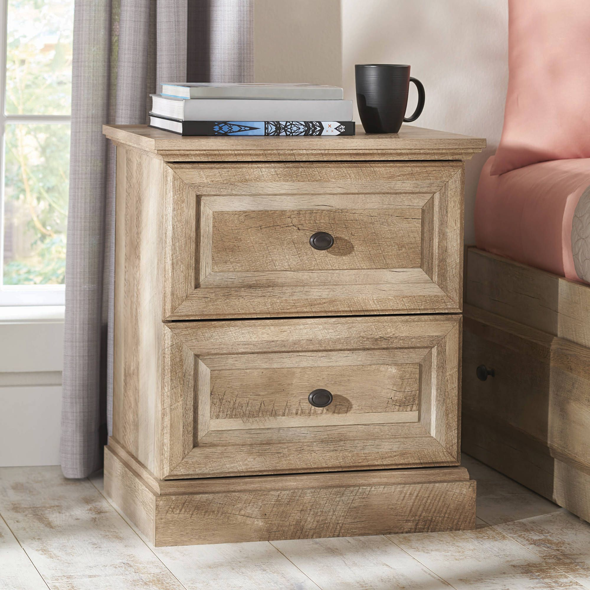 Better Homes and Gardens Crossmill Night Stand, Weathered Finish ...