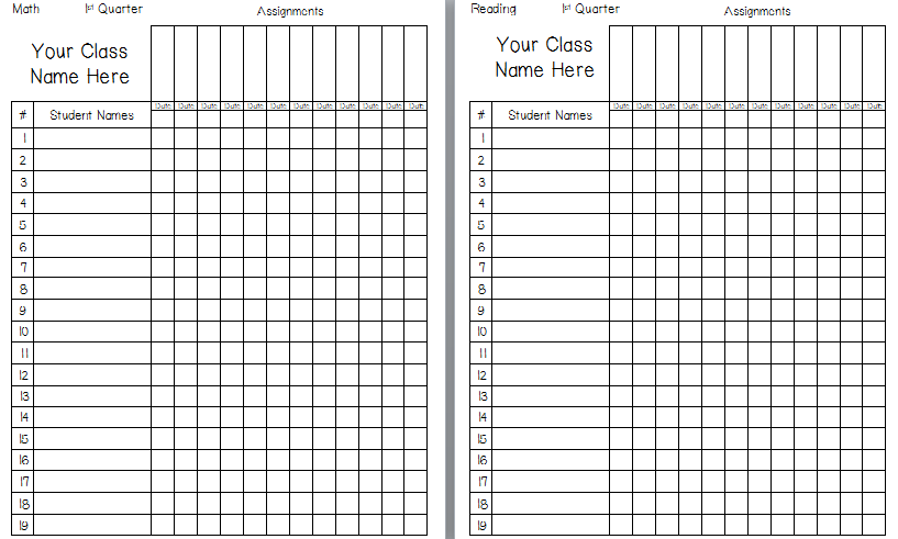 Printable Grade Book | Teacher Mode | Grade book template, Teacher ...