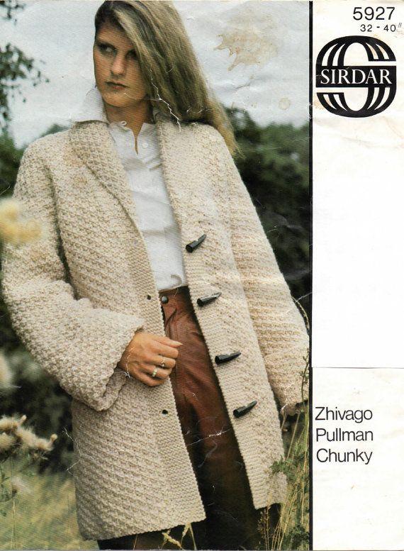 Digital Download A4 Pdf Ladies Chunky Knit Jacket Knitting Pattern