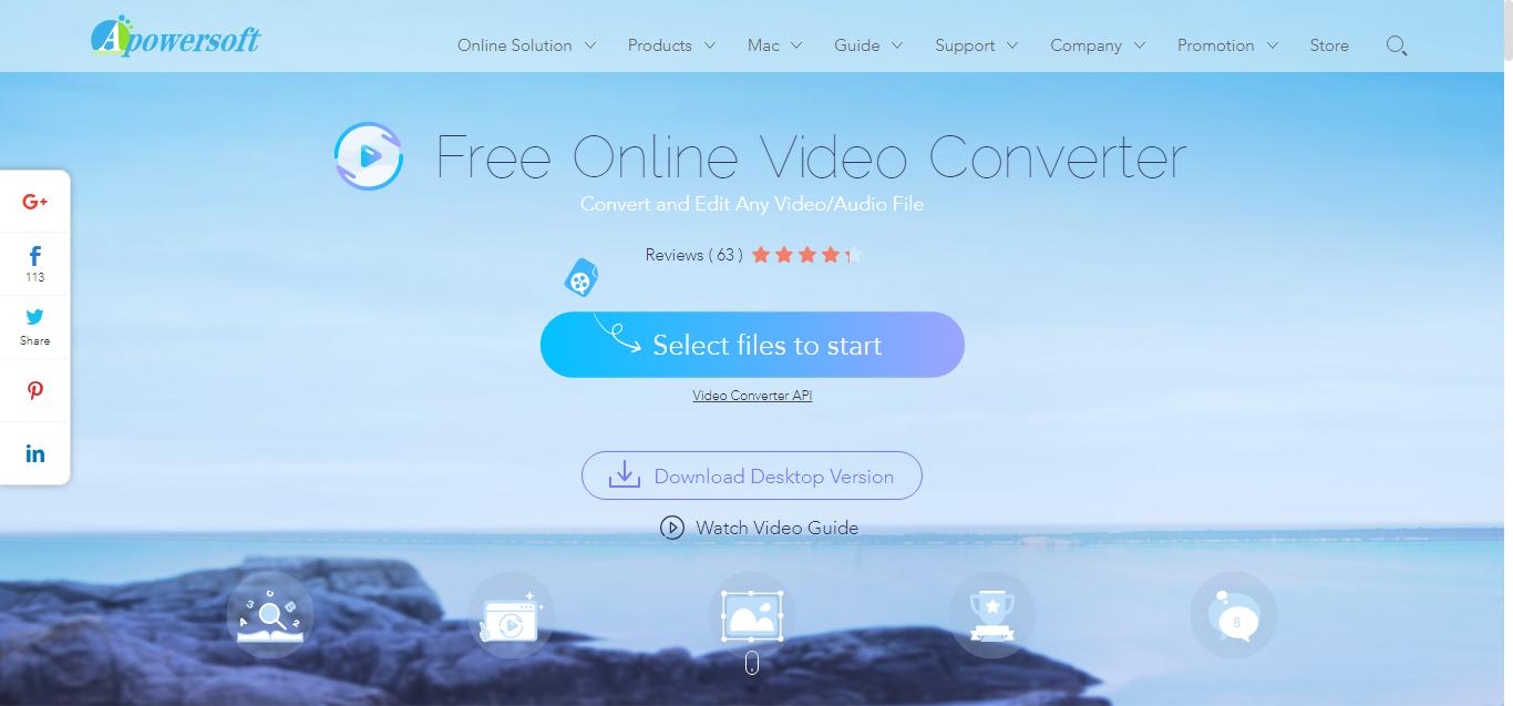 Apowersoft Free Online Video Converter - convert AVI, MP4