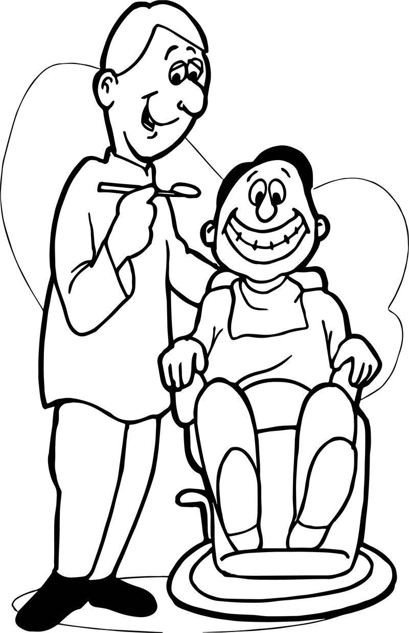Happy Dental Happy Dentist Coloring Page Coloring Pages Happy Dental Dog Coloring Page