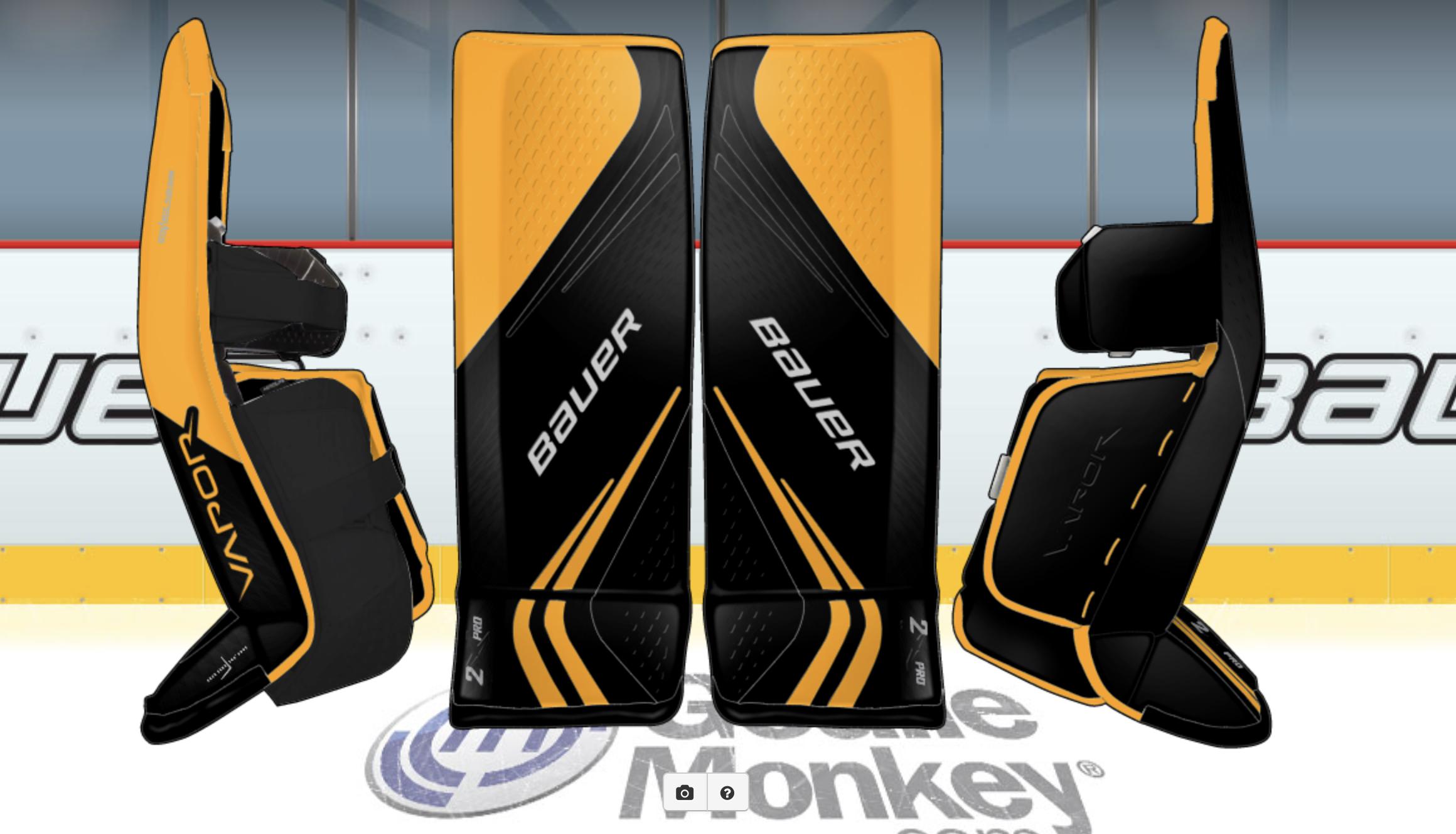 Black Based Penguins Bauer 2x Pads Goalie Gear Goalie Pads Goalie