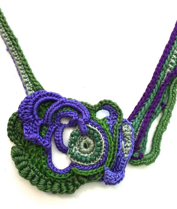 Free-form Crochet Necklace