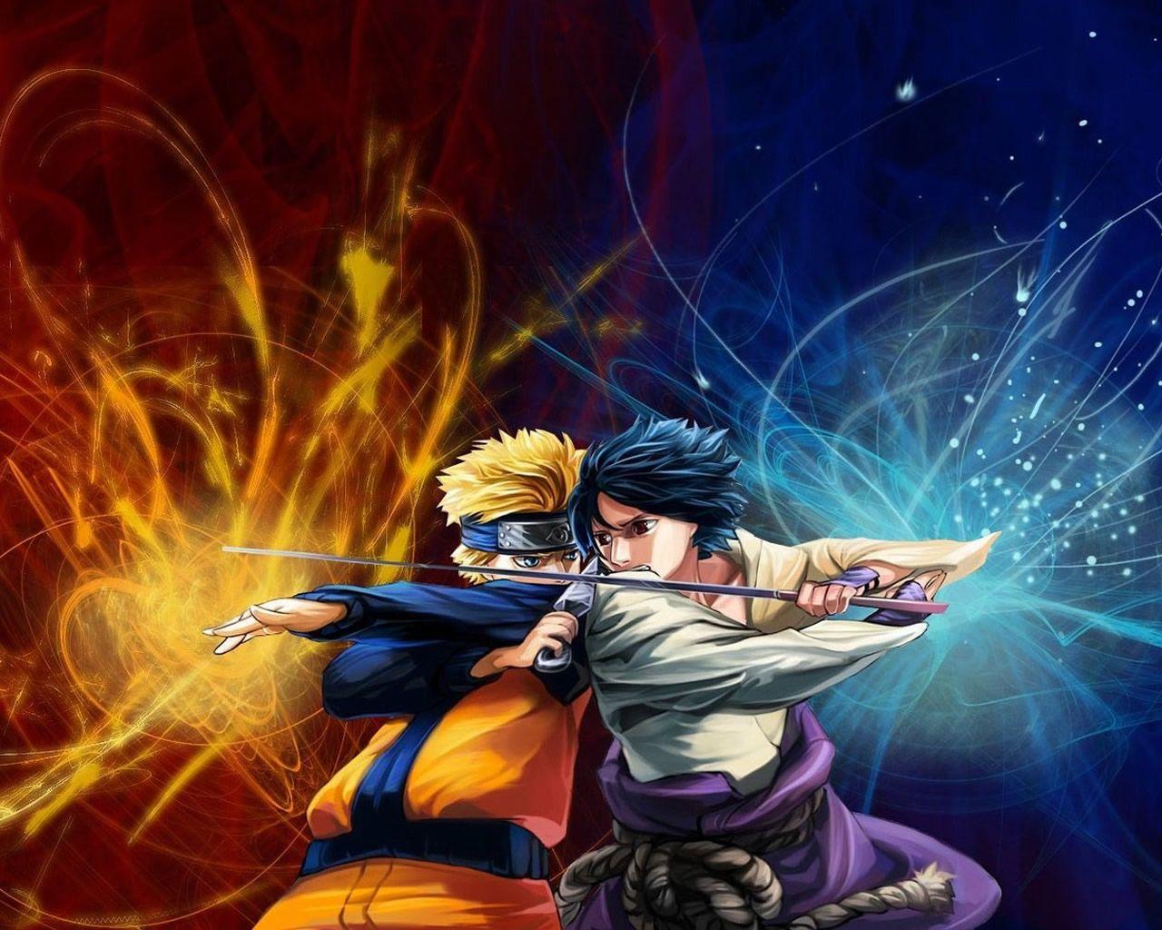 Naruto Vs Sasuke Wallpaper 1280 1024 0207 Naruto And Sasuke