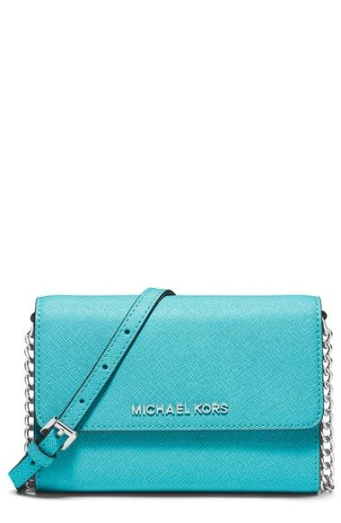 9648bb3169a4 MICHAEL Michael Kors 'Large Jet Set' Saffiano Leather Crossbody Bag |  Nordstrom