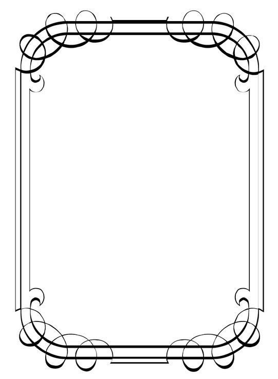 Simple border designs for invitations Siyah Beyaz Çerçeveler