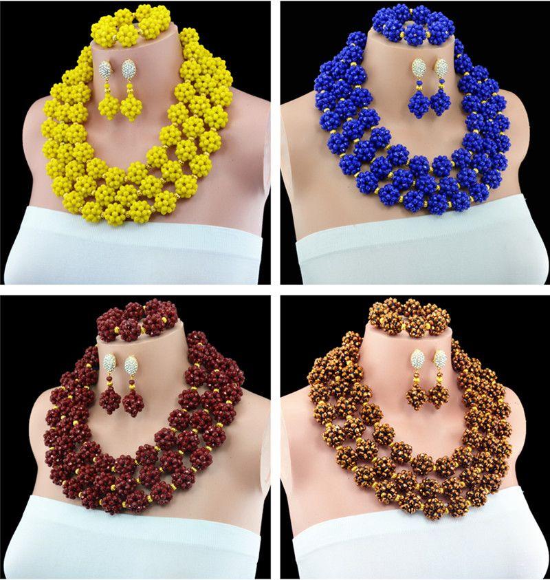 Handmade Skeleton Ball Jewelry set Crystal beads necklace earring ...
