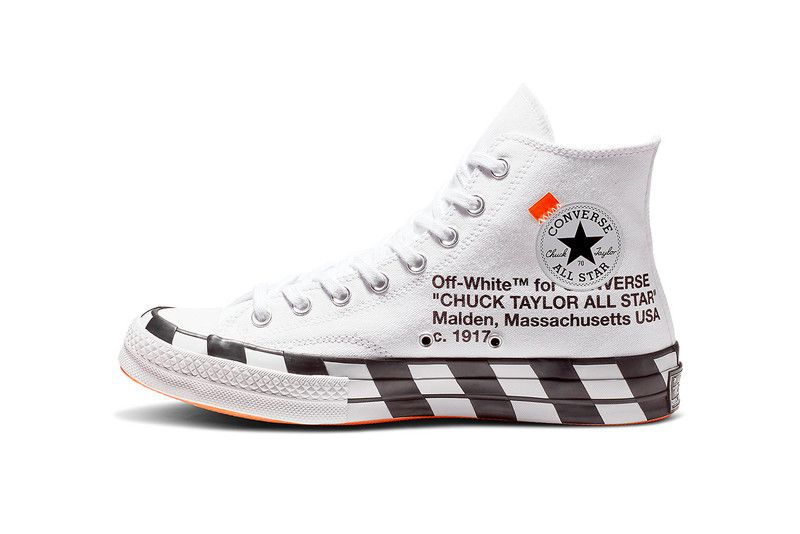 Off White Converse Chuck Taylor Diagonal Stripes