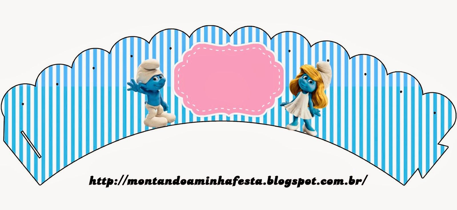Smurfs Invitations and Party Free Printables for Girls Party