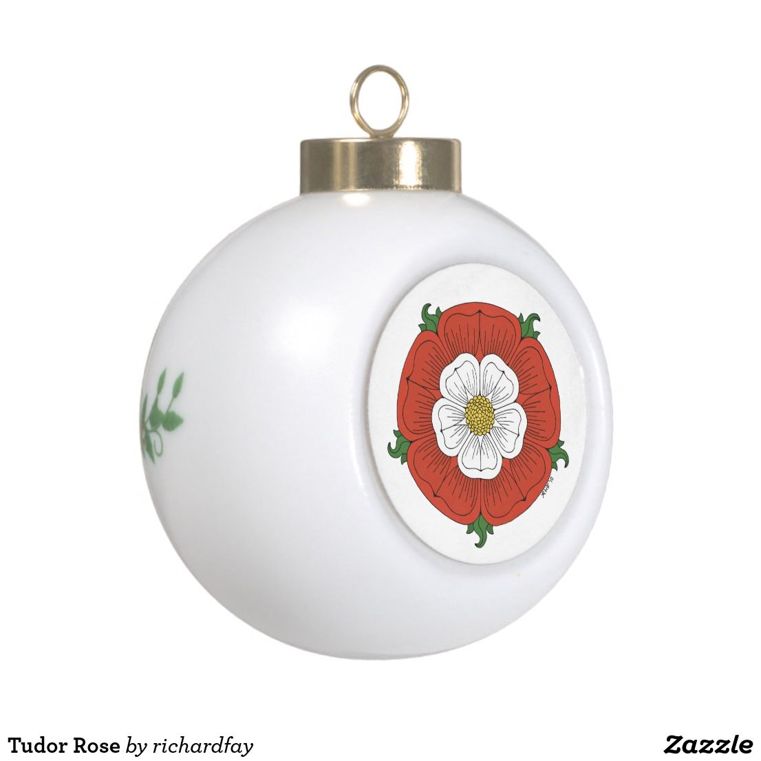 Tudor Rose Ceramic Ball Christmas Ornament in 2018 | Nailed It ...