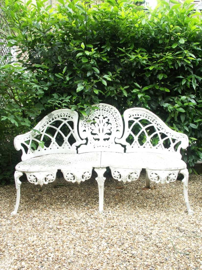 Beautiful And Ornate Wrought Iron Garden Bench Garden Bench