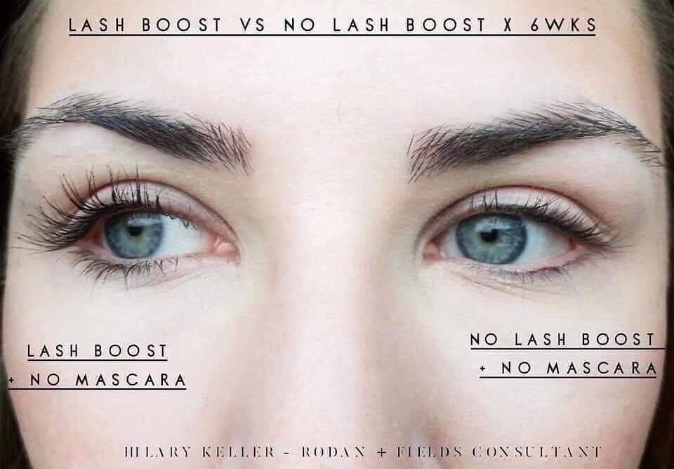 Lash Boost vs No Lash Boost... she applied to one eye only